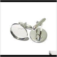 Beadsnice Запонки для ювелирных изделий изготовления латуни ручной работы запонки оптом с 16 мм круглый кабошон лоток ID8896 X9GBL 27ZCV