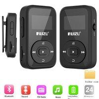 & MP4 Players Arrival Original RUIZU X26 Sport Bluetooth MP3 Player 8gb Clip Mini With Screen Support FM,Recording,,Clock,Pedometer