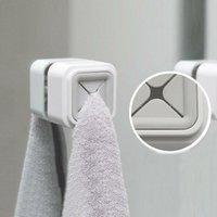 Towel Racks Wall Mount Storage Hook Home Portable Wash Cloth Clip Organizer Dry Holder Drop Self Adhesive Bathroom Tool