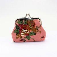 Sacos de Armazenamento Moda Vintage Flor Moeda Moeda Chave Titular Chave Carteira Hasp Pequeno Presentes Saco Embreagem Bolsa ZWL379 15 R2