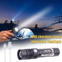 Flashlights Torches Strong Light Long-range Zoom Usb Rechargeable Led Lighting Bright Portable #T2P