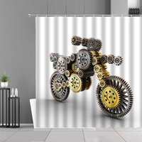 Shower Curtains Motorcycle Pattern Racing Car Extreme Sport Waterproof Home Bathroom Decor Hanging Curtain Bathtub Decors Screen