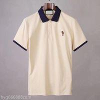 2021 Mens Designer Polos Marca Pequeno Cavalo Crocodilo Bordado Vestuário Homens Tecido Letra Polo T-shirt O Collar Casual Camiseta