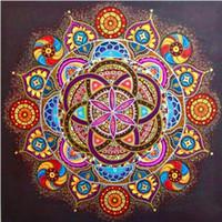 Elmas Boyama Nakış Çiçekler 5D DIY Çapraz Dikiş Tam Kare Yuvarlak Mozaik Resim Sergisi Mandala Ev Dekor