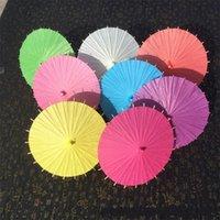 DHL 20/30/40/60 cm Chinesische JapanEpaper Parasol Papier Regenschirm für Hochzeit Brautjungfern Party Favors Sommer Sonnenschutz Kind Größe
