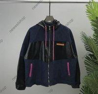 2021 Осень зимние мужские куртки дизайнерские ковбойские куртки мужчины женские письма печатать пальто мужчины мода уличная одежда с длинным рукавом разбиение роскоши пальто
