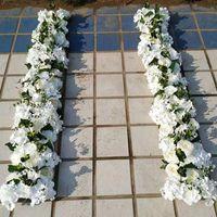 Fleurs décoratives guidons décoration de mariage mur mur artificiel Hydrangea pivoine rose soik arc porte route conduit décor