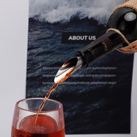 Bar Tools Wine Stopper Pourers Stainless Steel Wine Funnel Bottle Pourer Cap Bar Tools GWD8907