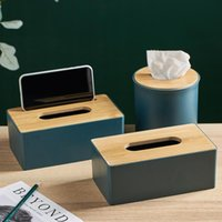 Nordic Tissue Box Bambu Multifuncional Proteção Ambiental Titular Titular Sala de estar Modern Home Decoração Acessórios