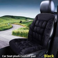 Car Seat Covers Black Plush Cover Protector Linen Front Back Cushion Protection Pad Mat Backrest For Auto Truck Suv Interior Accessory
