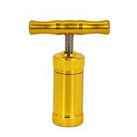 Lega di zinco T maneggiare il polline utensile per la pressa Polline 25mm Heavy Duty Durevole Cilindro di metallo Herb per smerigliatrici o tubi per fumo in silicone Accessori