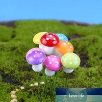 10pcs 인공 식물 꽃 미니 거품 버섯 시뮬레이션 다채로운 버섯 결혼식 DIY 장식 분재 장식 액세서리
