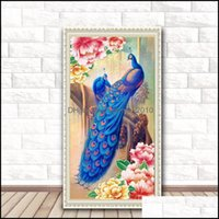 Paintings Arts, Crafts Gifts & Gardendiy Peacock Painting 5D Animal Home Decoration Diamond Embroidery Cross Stitch Gift For Friends Dh0339