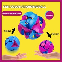8 cm Magic Telescopic Color Changing Ball Decompression Toy Adult and Child Interaction Outdoor Toys Puzzle Two-color Deformation CatchingBall