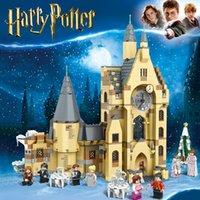 Harry Potter Hogwarts Modelo Kits de Construção Tijolos Bolos Torre Do Relógio Torre Do Puzzle Block Brinquedos