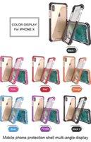 المدافع أربعة زوايا سميكة واضحة السوبر مكافحة السقوط الحالات الزجاج الاكريليك زائد TPU 3 في 1 حالة الهاتف الخليوي iphone x xs XR XSMA 11 12 برو ماكس