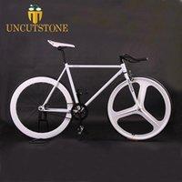 Track Bike Magnesium Illoy колесо 3 спицы Fixie велосипеда фиксированная передача велосипеда 700C колесо 52см кадр заполнена дорога белый