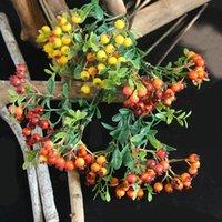 Yapay Berry Şubesi Noel Çiçekleri Ev Dekor Meyve Dalları Dekorasyon Aksesuarları Sahte Bitki