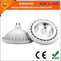 15W Dimmable LED AR111 전구 24 36degree 스포트 라이트 빛 교체 할로겐 ES111 G53 GU10 램프 임베디드 스포트 라이트 따뜻한 흰색 AC220V 12V 실내 조명