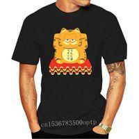 Men's T-Shirts Men T Shirt Lucky Garfield Fashion Funny T-shirt Novelty Tshirt Women