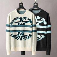 21SS Sıcak Kış Erkek Bayan Tasarımcılar Kazak Yüksek Kalite Markalar Adam S Giysi Luxurys Beyaz Giyim Örme Düşük Boyun Erkekler Champ Hoodies Hermi Sweater 02