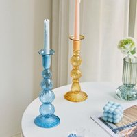 Candle Holders Artist Style Candlestick Wedding Table Centerpieces Fashion Decoration For Home Designers Crystal Glass
