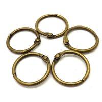 10 pcs 15-75mm Antique Broto Folha Solta Binder Articulado Livro de Metal Anéis para Álbum Scrapbook Office Circle Circle Ring