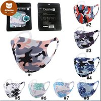 Camouflage Face Masks Protect Anti-dust Wind Ice Silk Cotton Mouth Mask Washable Breathable Cyling Bicycle Protective Camo Black Package Hot gr