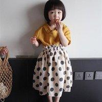 Gonne 2021 Estate stile coreano in cotone Biancheria per neonati Polka Dots Bambini Vestiti Bambini BUD Costumes