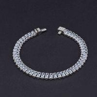 HBP Fashion Jewelry di lusso 2021 Nuova simulazione del braccialetto completo di carbonio alto 2,4 * 5mm catena diamante riga