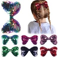 Pailletten Baby Mädchen Haarnadel Kinder Bowknot Haar-Clip Mode Kinder Umgedreht Fischwaage Ente Schnabel Clip Headwear GG32UM67