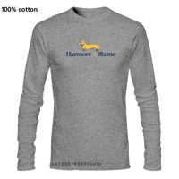 Men Fashion Cotton T Shirts Harmont Blaine Man Casual Long Sleeve Tops Black L0223