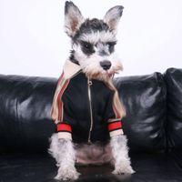 Мода на молнии дизайн домашние животные куртка открытый уличный стиль собака одежда зима модный тедди бишон щенок одежда