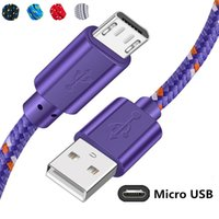 0.5 1m 2m 3m For Huawei Xiaomi Samsung S9 HTC LG Android Phone Cables Braided Micro USB Cable Data Sync USB Charger Cabl