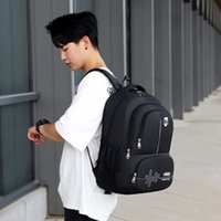 Large Capacity Anti Splash Oxford Cloth Men's Fashion Backpack College Student Outdoor Travel Computer Schoolbag