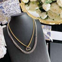 Collane della donna del pendente della moda collana di vendita calda per la collana del pendente della donna Amanti del partito del regalo dei gioielli del hip-hop con la scatola