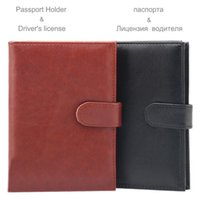 Card Holders 1Pc High Quality PU Leather Russian Auto Driver License Cover Passport Holder Case The For Car Driving Document