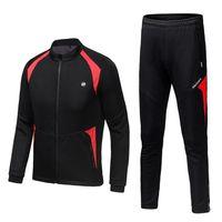 Мужской ветрозащитный с длинным рукавом Велоспорт велосипедные трикотажные изделия куртки велосипедные костюмы спортивные комплекты на открытом воздухе быстрые сухие днища брюки