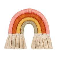 Decorative Objects & Figurines Weaving Rainbow Tapestry Cotton Hand-woven Color Ornaments 2021 31pcs INS Nordic Home Love Cn(origin) Classic