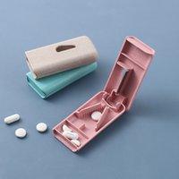 Portatile da viaggio Piccola pillola taglierina scatola mini pillole di carry-on stoccaggio Soggiatori sigillati Scatole di classificazione medicina Contenitore paglia di grano confezionato ZXFTL0564