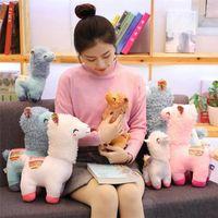 Encantador 25/35/45 cm Llama Peluche Muñeca de juguete Muñecas de peluche Alpaca para niños Cumpleaños Regalos de Navidad
