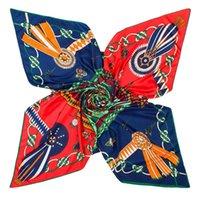 Newest Large Square Scarves For Women Luxury Chic Design Scarf 130*130cm Scarf Shawl Wraps Hijab Winter Muffler Summer Beach Satin Scarf Fem
