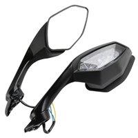 Motorcykel Tillbehör Bakövare Spegel LED Turn Signal Light för Yamaha YZF R6 2017 YZF R1 2015-2019 16 Vrid signalspeglarna