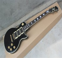 Guitarra eléctrica personalizada de calidad superior Peter Frampton LP, hardware de oro, 3 pickups Guitarra de belleza negra