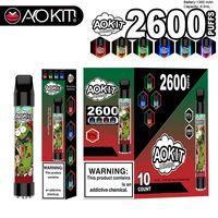Aokit Lux Haka مع بطارية جهاز 1350 مللي أمبير في الساعة 8.5 مل خرطوشة 2600 نفث التبديل المتاح vape RGB القلم ضوء Bang XXL CEEAX