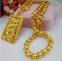 Чистка низкая цена Высокое качество Бесплатная доставка Золотой Fieded Dragon Heatant Ожерелье 95n