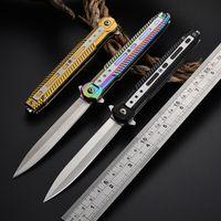 Spedizione gratuita in acciaio inox pieghevole tattico coltello tagliente tagliente facile da trasporto a forma di penna maniglia da campeggio caccia da campeggio all'aperto coltello
