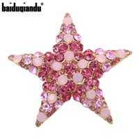 Baiduqiandu Marca fábrica directamente venta de alta calidad rosa o verde cristal cristal broche bronce pasadores para mujeres