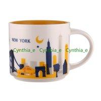 14 oz kapasite seramik starbucks şehir kupa Amerikan şehirleri kahve kupalar fincan orijinal kutusu ile New York