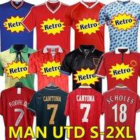 مانشستر ريترو 1992 2007 08 94 98 99 86 88 1990 2002 United Soccer Jersey V.Nistelrooy Giggs Scholes Beckham Ronaldo Cantona Solskjaer Man